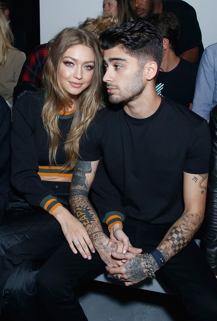 Gigi Hadid and Zayn Malik Turn Heads While Supporting ...