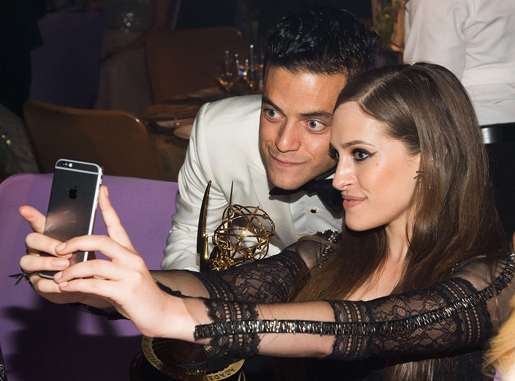 Rami Malek, Carly Chaikin, 2016 Emmy After Party, Governors Ball, Candids