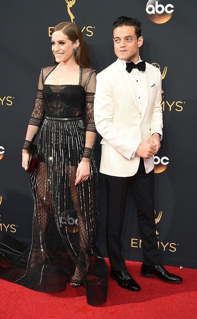 Rami Malek, Carly Chaikin, 2016 Emmy Awards, Couples