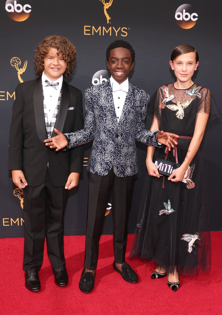 First Emmy Awards -  She attends the awards show with fellow castmates  Gaten Matarazzo  and  Caleb McLaughlin .
