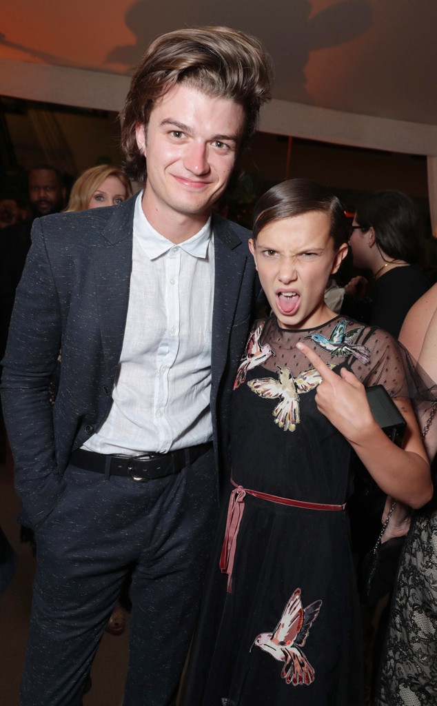 Joe Keery, Millie Bobby Brown, 2016 Emmy After Party Pics