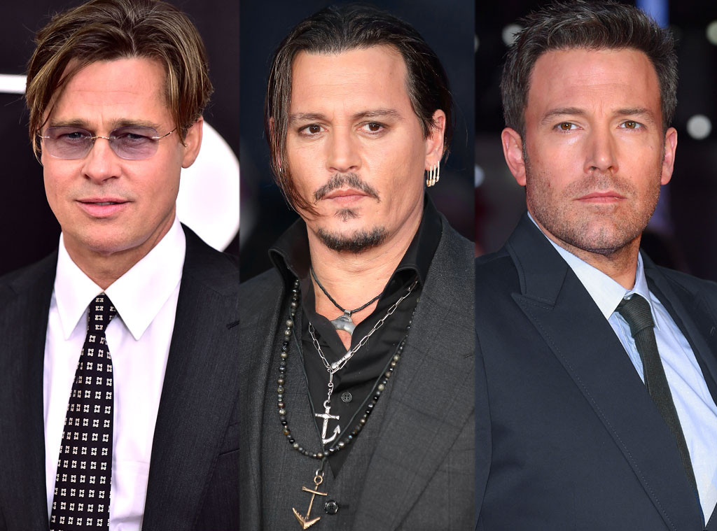 Brad Pitt, Johnny Depp, Ben Affleck