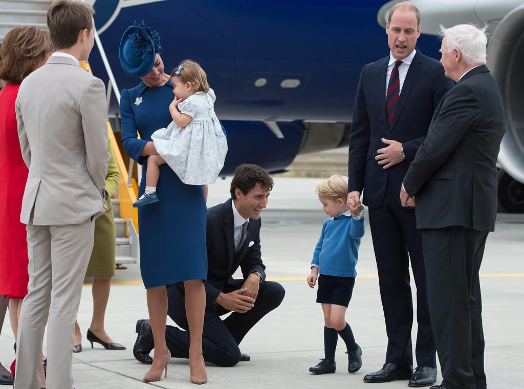 Prince George, Justin Trudeau, Princess Charlotte, Kate Middleton, Prince William