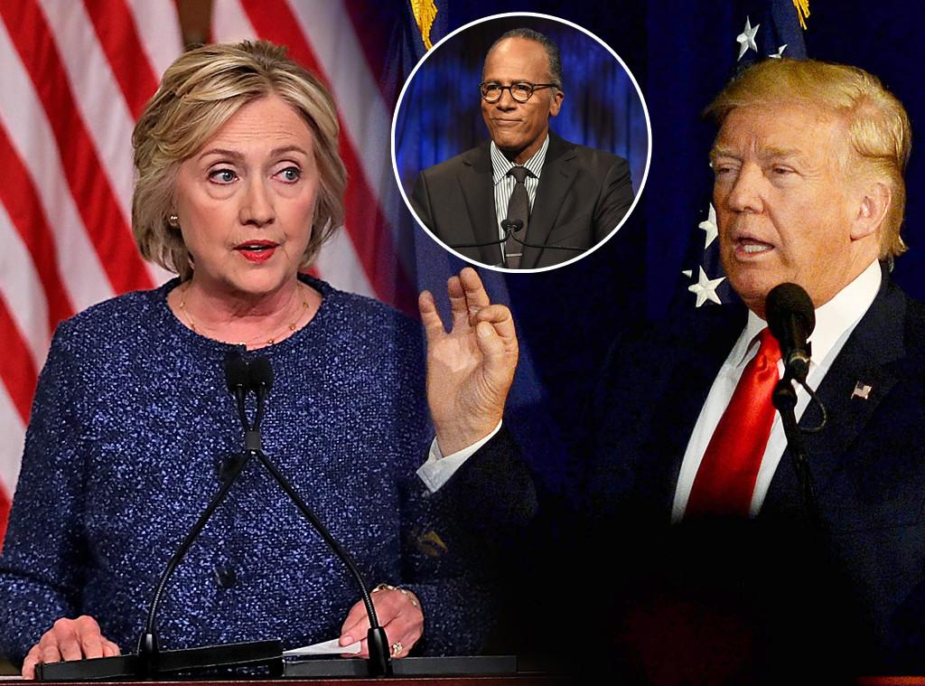 Hillary Clinton, Donald Trump, Lester Holt