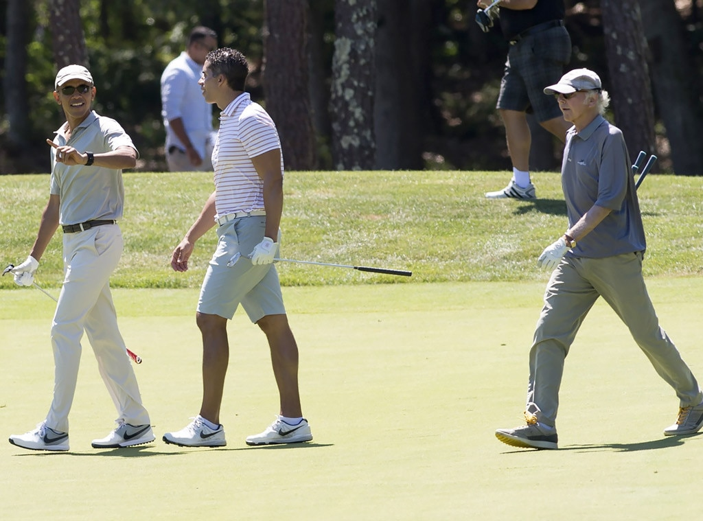 President Barack Obama & Larry David -  Former President Obama and the  Curb Your Enthusiasm  creator hit the golf course.
