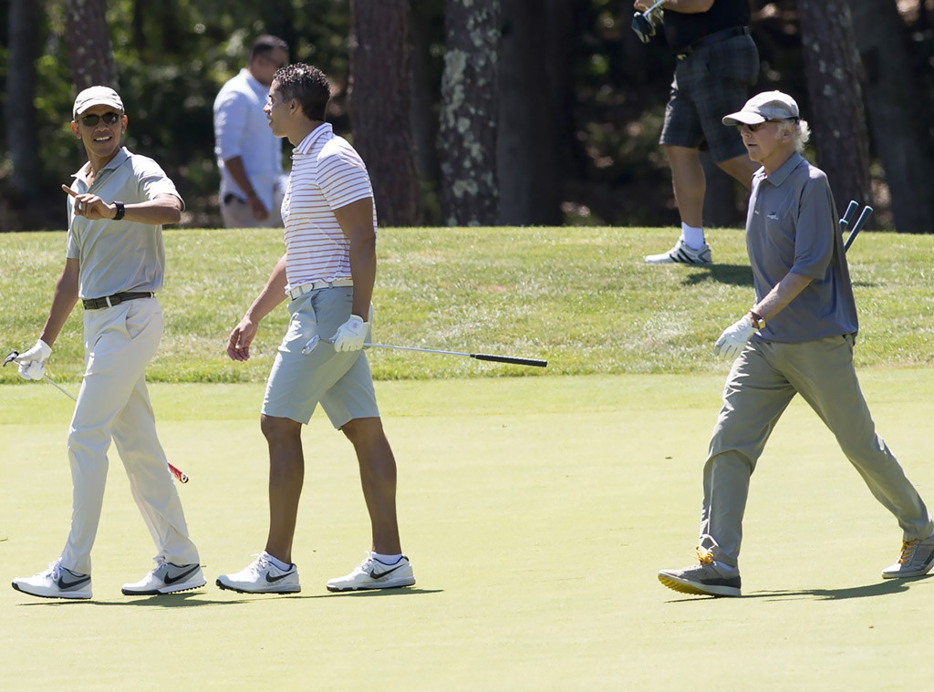 President Barack Obama, Larry David, Celebs Golfing