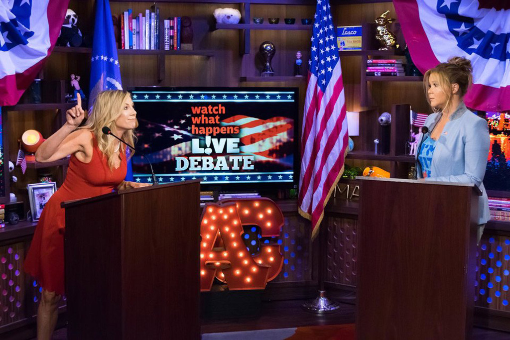 Amy Schumer, Ramona Singer, Watch What Happens Live