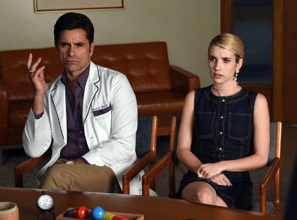 Watch John Stamos And Emma Roberts First Date On Scream Queens E Online Ca
