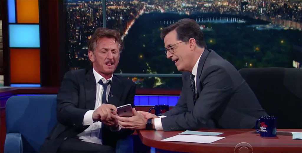 Sean Penn, Stephen Colbert
