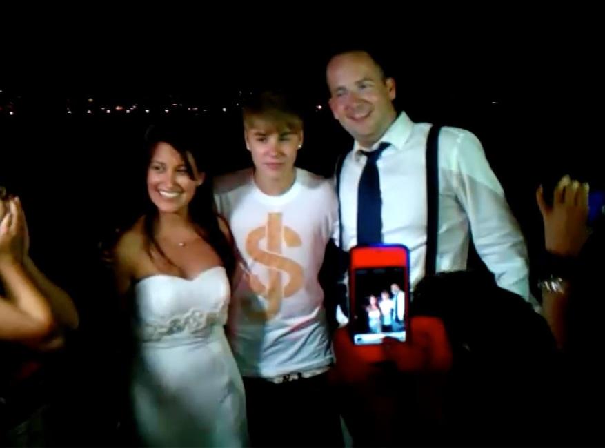 Justin Bieber, Wedding Crasher
