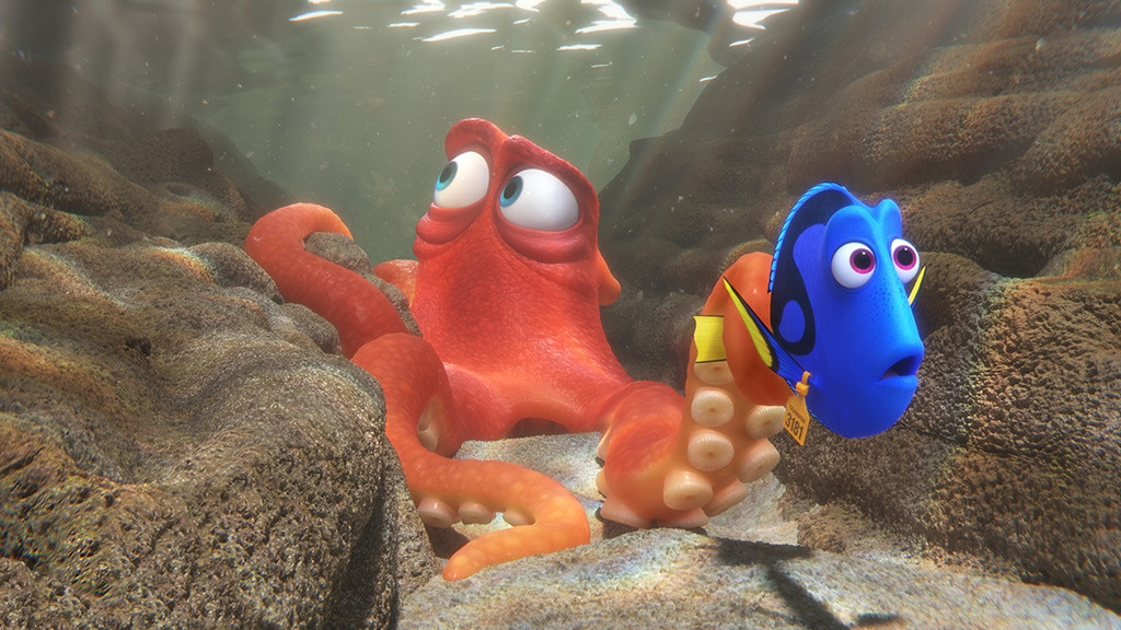 14. Finding Dory  (2016) -  Dory ( Ellen DeGeneres ), a blue tang fish who suffers from short-term memory loss, can remember one thing: she somehow became separated from her parents as a child.