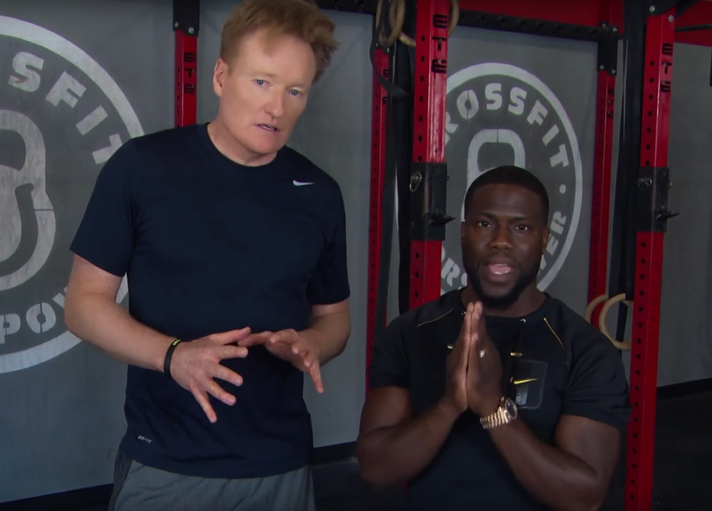 Conan O Brien Hits The Gym With Kevin Hart And Surprise He Can T