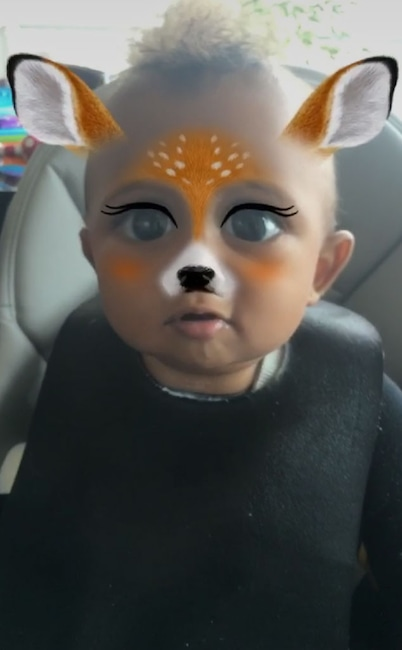 Saint West, Kim Kardashian, Snapchat