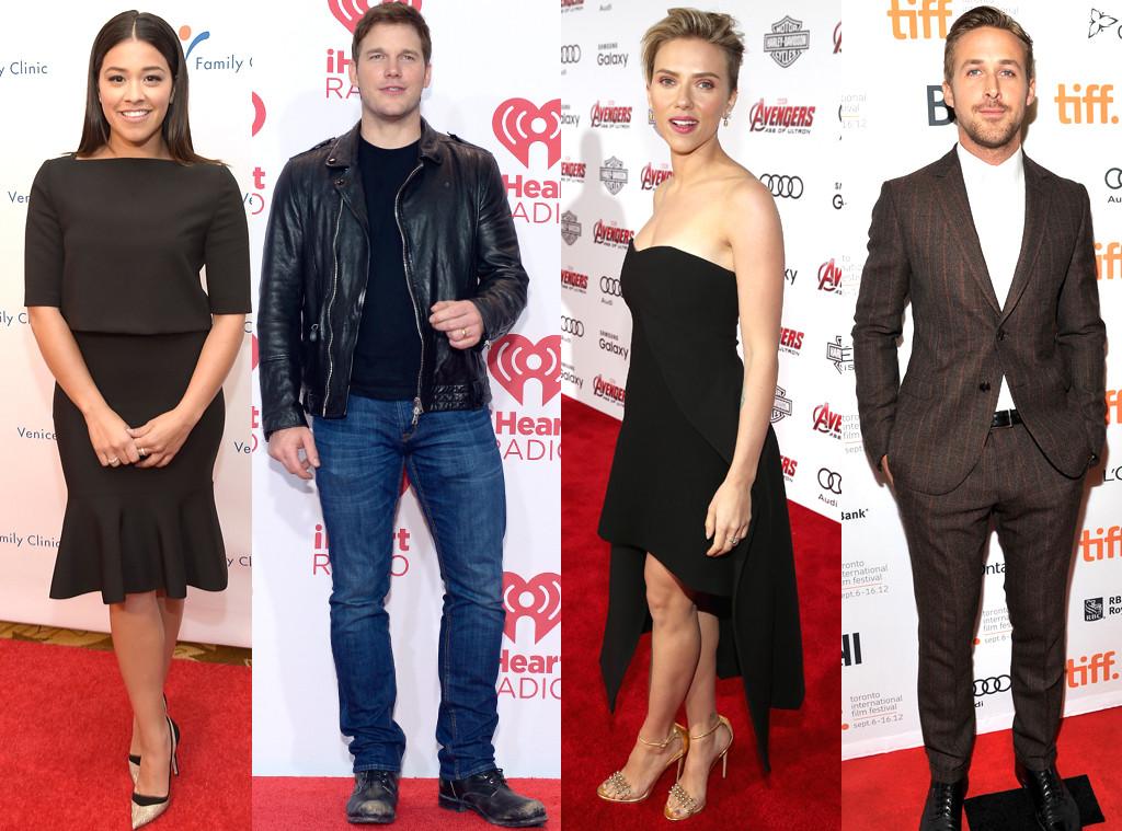 Chris Pratt, Gina Rodriquez, Scarlett Johanson, Ryan Gosling