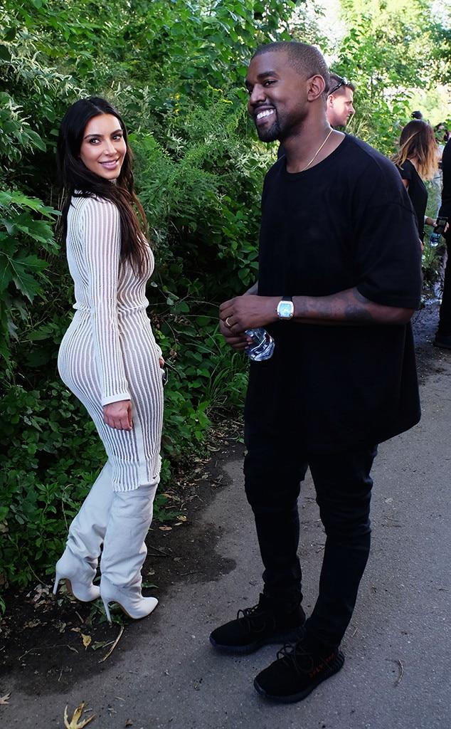 Kim Kardashian Kanye West From New York Fashion Week Spring 2017 Star Sightings E News