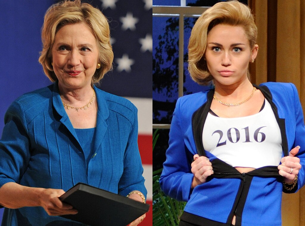 Hillary Clinton, Miley Cyrus, Saturday Night Live, SNL