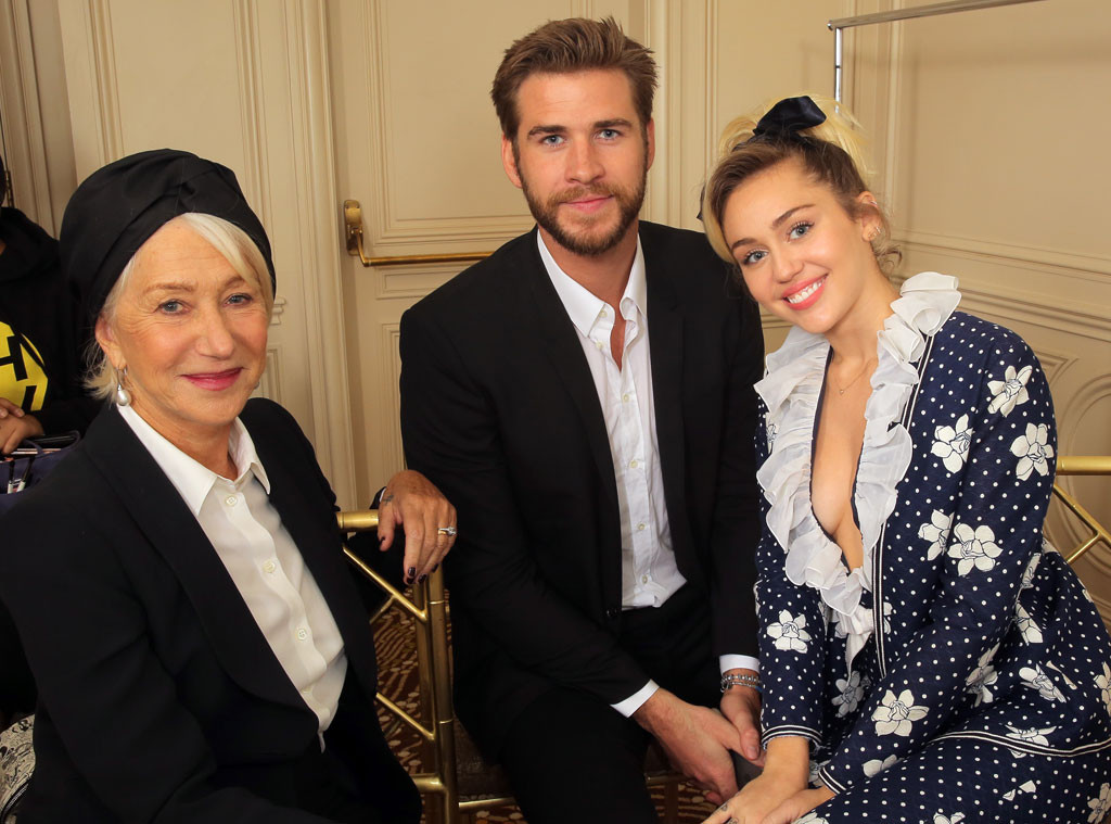 Helen Mirren, Miley Cyrus, Liam Hemsworth, Variety Power of Women