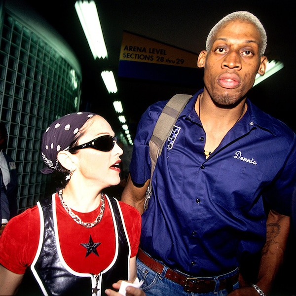 Madonna & Dennis Rodman from 90s Couples You Probably