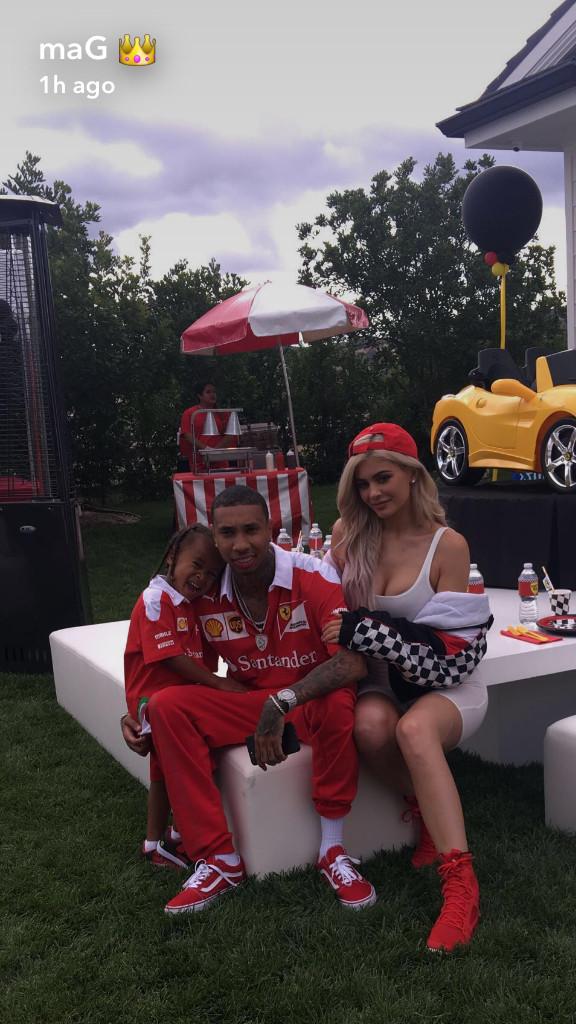 Kylie Jenner, Tyga, King Cairo, Ferrari Birthday Party, Snapchat