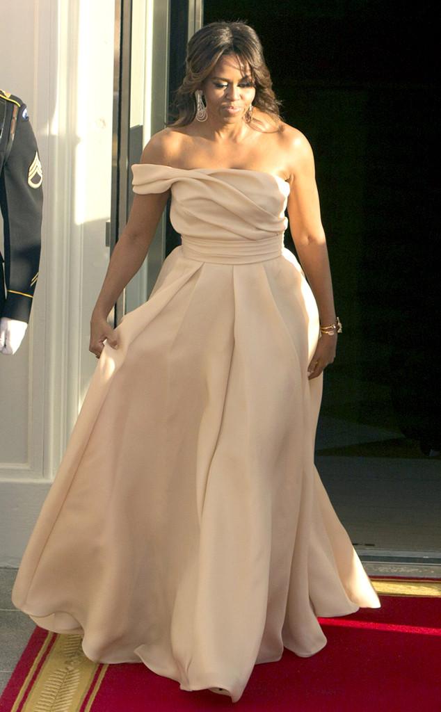 State Dinner Fashion, Michelle Obama