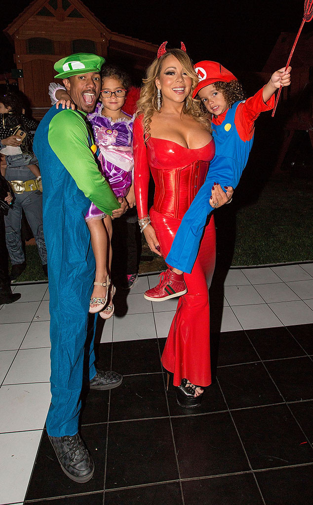 nick cannon mariah carey celeb kids celebrate halloween 2016