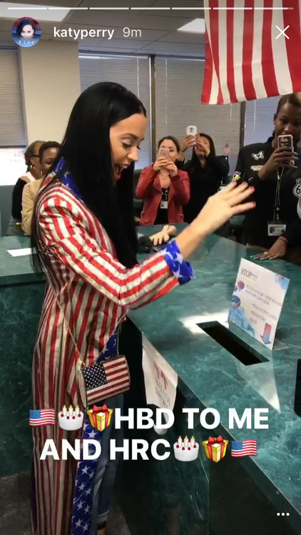 Katy Perry, Instagram Story, Voting