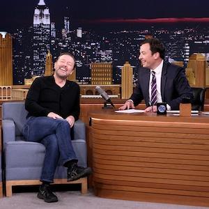 Ricky Gervais, Jimmy Fallon, The Tonight Show