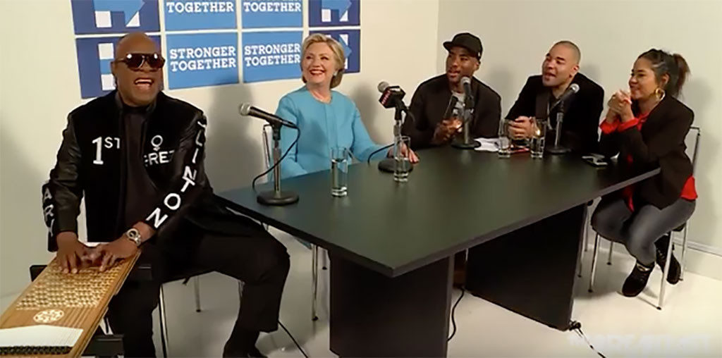 Hillary Clinton, Stevie Wonder