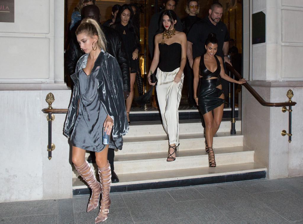 Kourtney Kardashian, Kendall Jenner, Hailey Baldwin