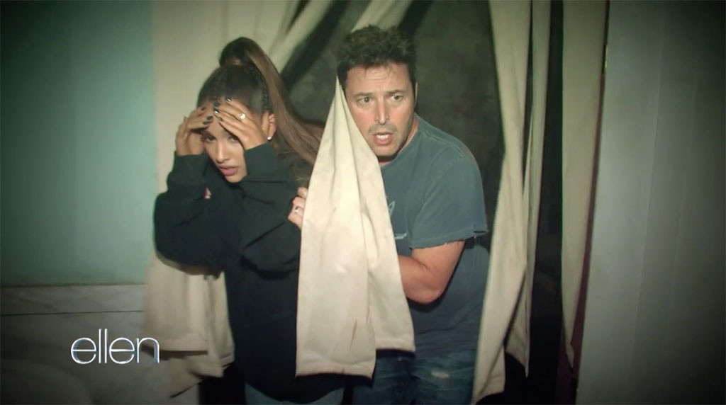 Ariana Grande, Ellen DeGeneres, Haunted House