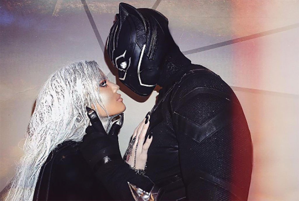 Khloe Kardashian, Tristan Thompson, Halloween, Kissing, PDA