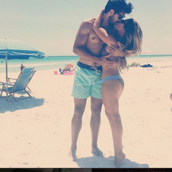 """Summer Lovin' -  """"Finally some down time with baby,"""" Jessie wrote on Instagram with this PDA pic."""