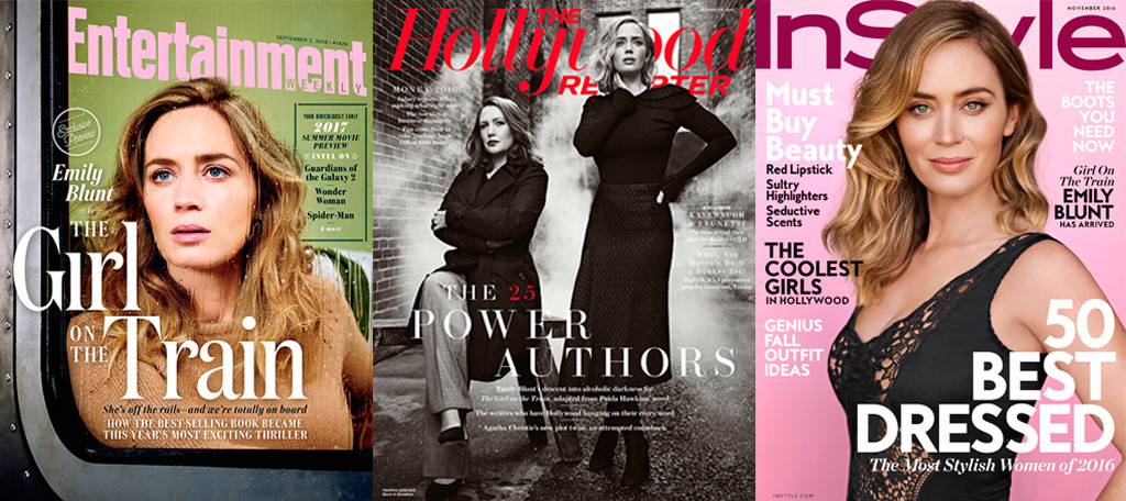 Emily Blunt, Entertainment Weekly, The Hollywood Reporter, InStyle