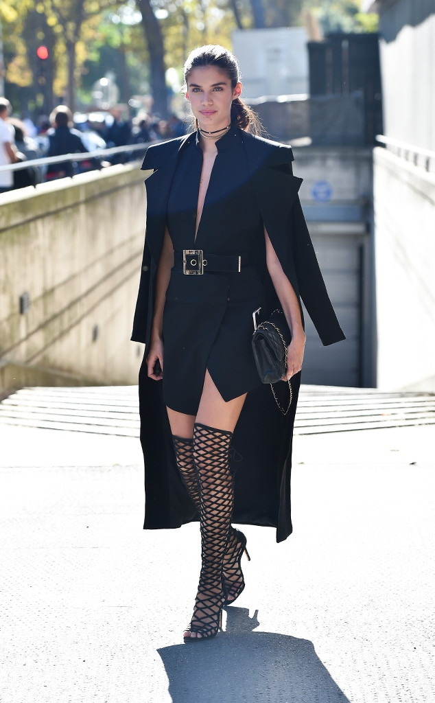 Sara Sampaio From Best Celeb Street Style From Paris Spring 2017 E News