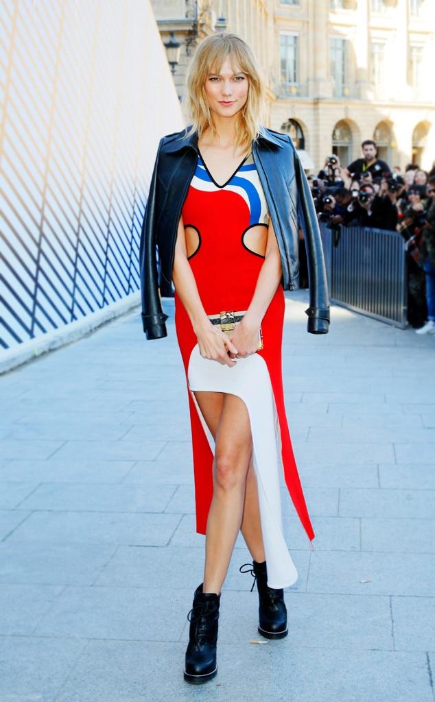 ESC: PFW Celeb Street Style, Karlie Kloss