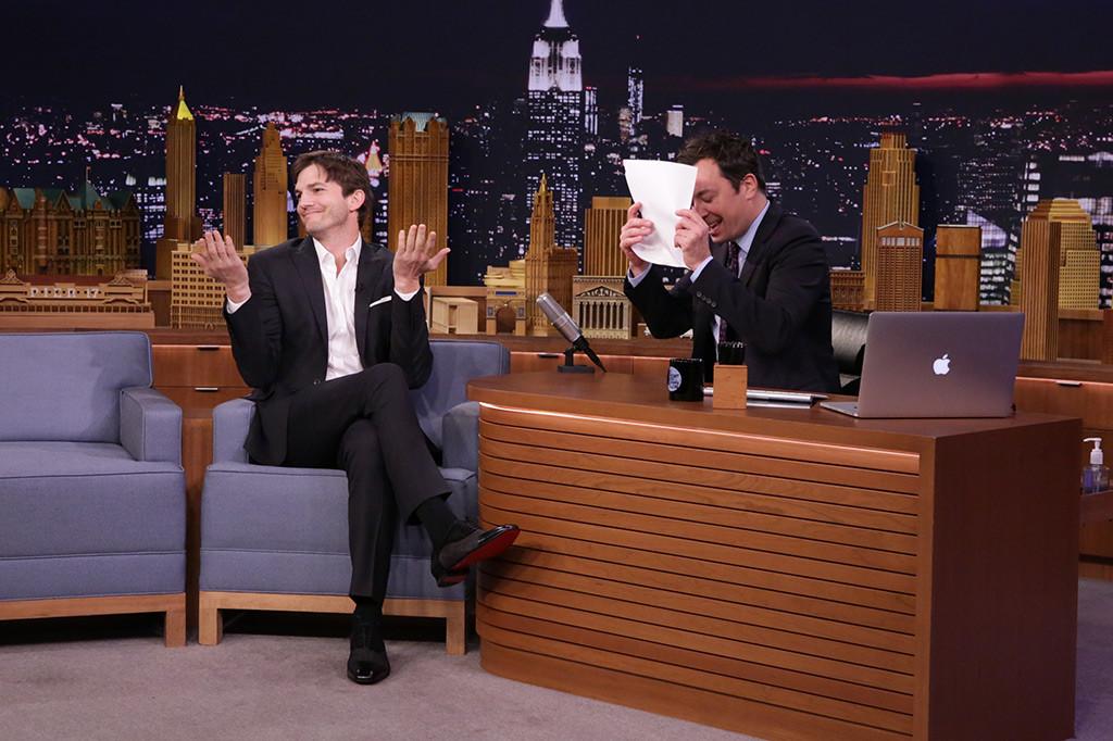 Ashton Kutcher, Jimmy Fallon, The Tonight Show