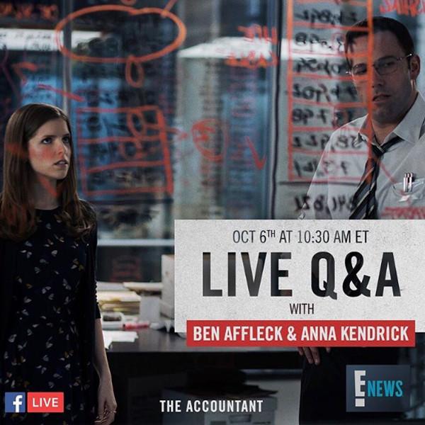 Ben Affleck, Anna Kendrick, Facebook Live