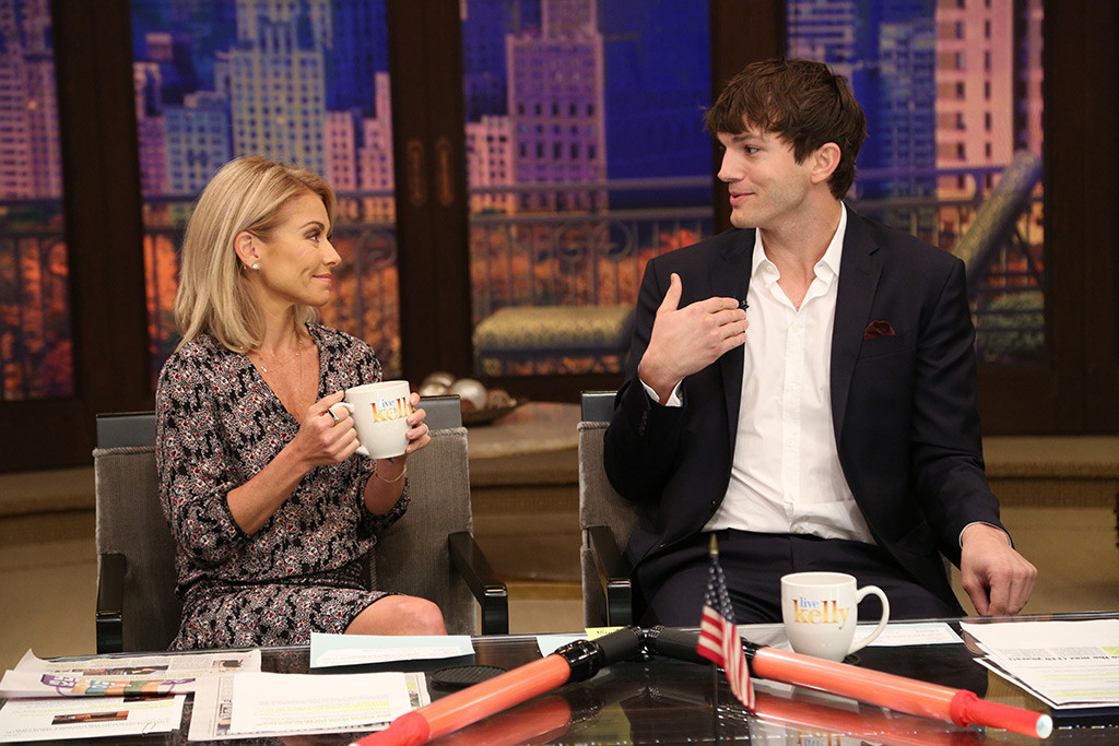 Ashton Kutcher, Kelly Ripa, Live with Kelly
