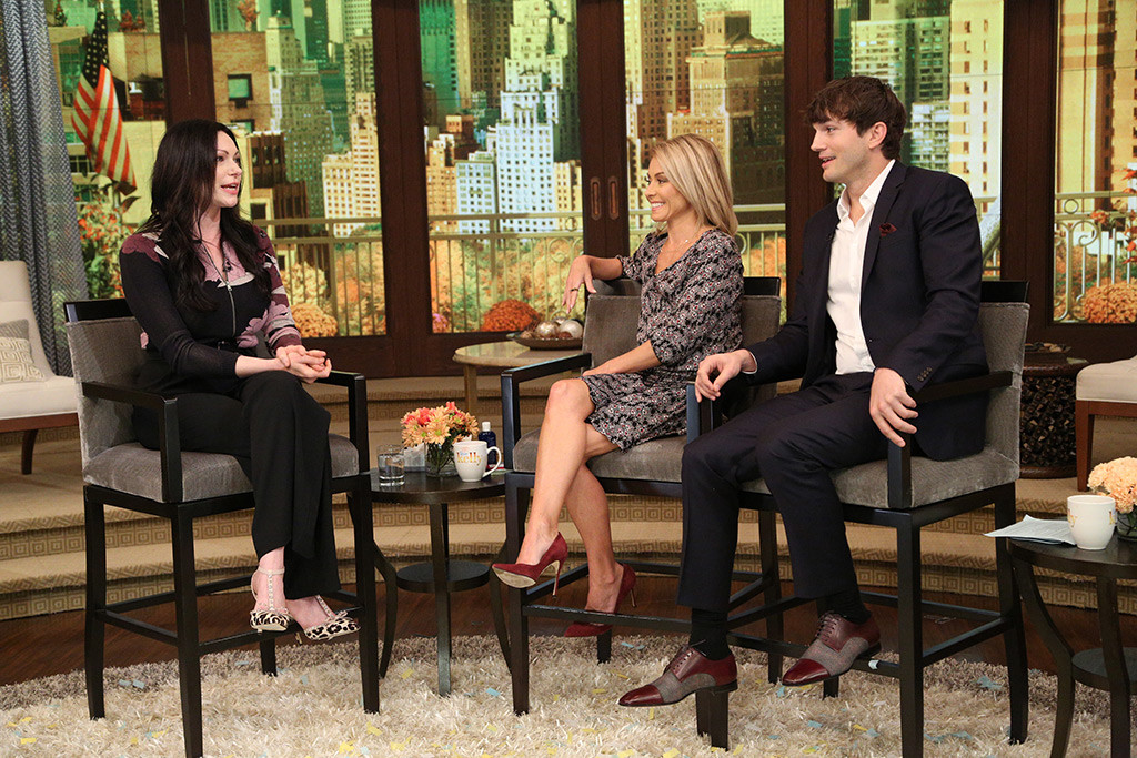 Laura Prepon, Ashton Kutcher, Kelly Ripa, Live with Kelly