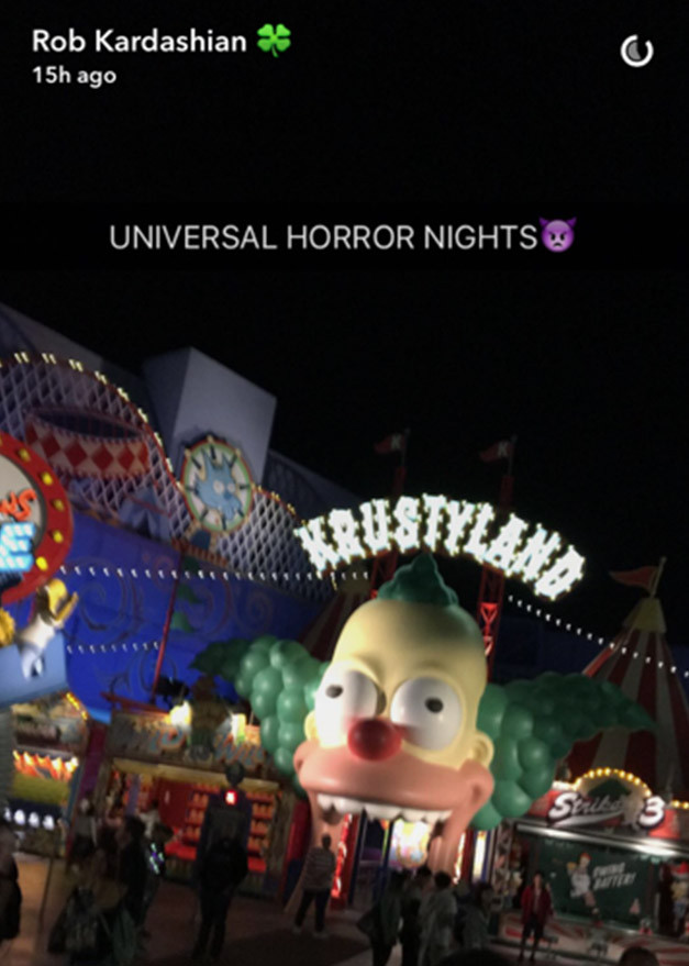 Rob Kardashian, Blac Chyna, Horror Nights