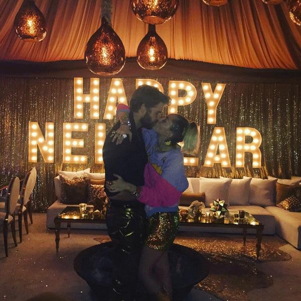 Miley Cyrus, Liam Hemsworth, New Year's Eve 2016