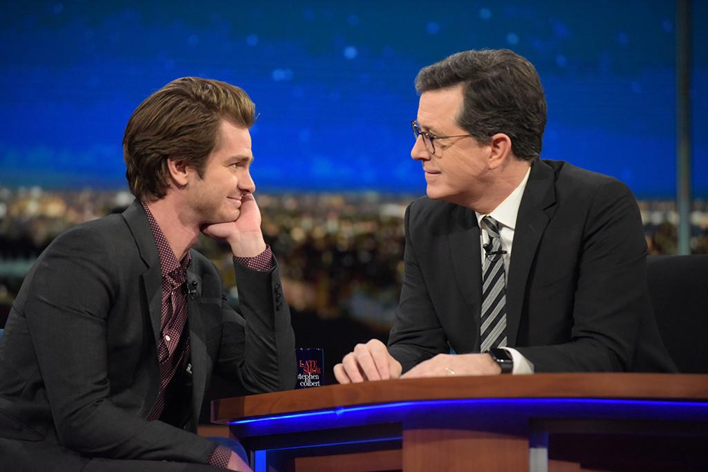 Andrew Garfield, Stephen Colbert, The Late Show