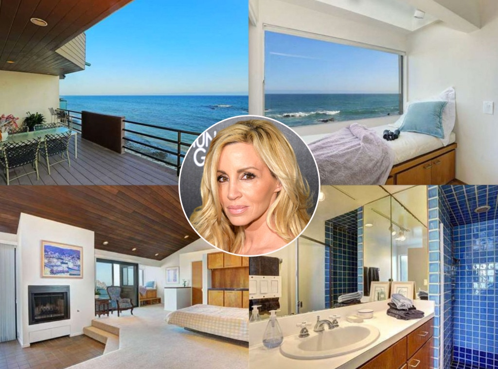 Camille Grammer -  After splitting from actor  Kelsey Grammer , the  Real Housewives  star sought a new beginning in a $6.55 million, 2,000-square-foot   property  overlooking the ocean in Malibu.