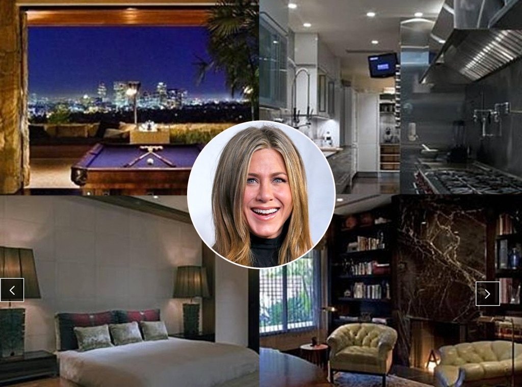 "Jennifer Aniston -  About a year after the  Friends  alum split from  Brad Pitt , Aniston moved into a $13.5 million Beverly Hills  estate  dubbed ""Ohana."" Upon coupling up with  Justin Theroux , the actress traded her bachelorette pad for a  12,695-square-foot  love nest in Bel Air."