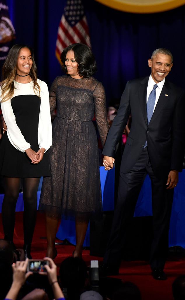 Barack Obama, Michelle Obama,  Malia Obama