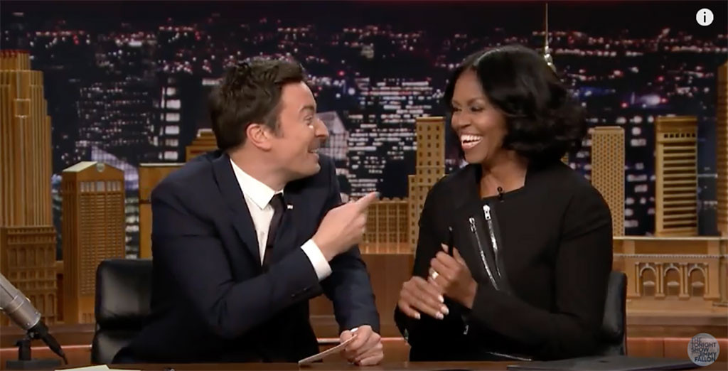 First Lady Michelle Obama, Jimmy Fallon