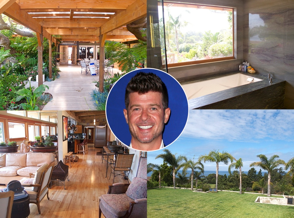 "Robin Thicke -  When the ""Blurred Lines"" Singer called it quits with  Paula Patton , he secluded to a brand new $2.4 million equestrian estate in Malibu."