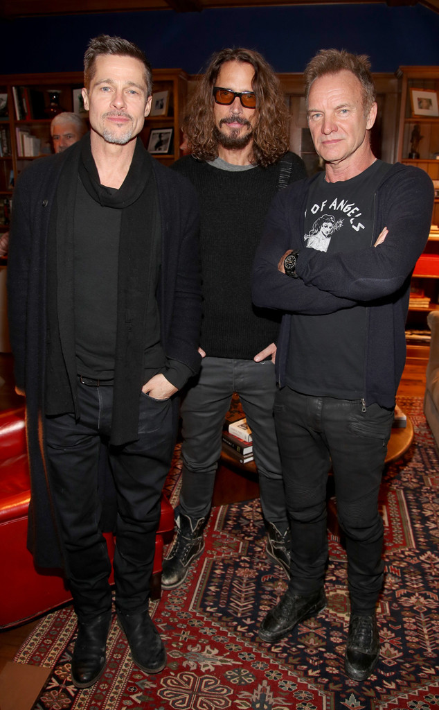 Brad Pitt, Sting, Chris Cornell