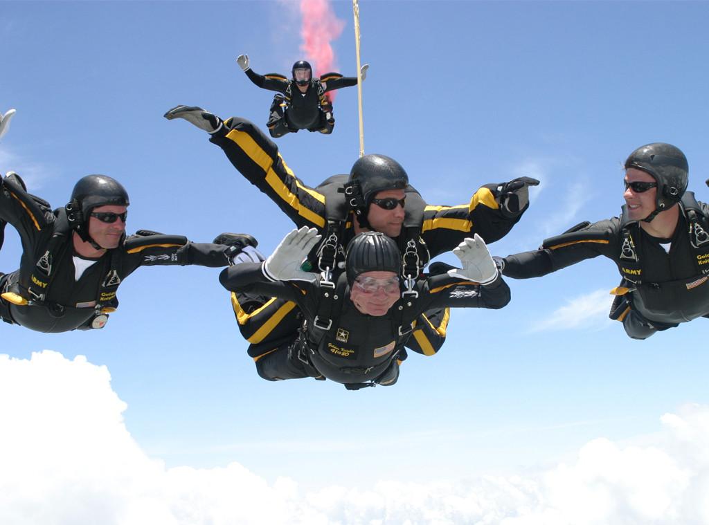 George H.W. Bush, Skydiving