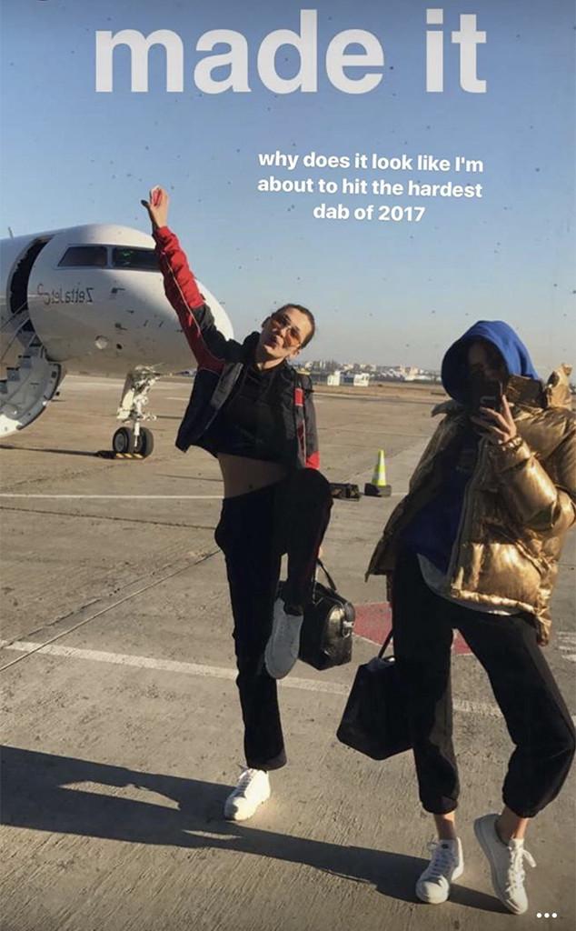 Kendall Jenner, Bella Hadid, Snapchat